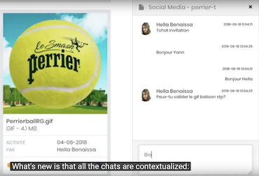 communication center - contextualised chat for marketing teams and agencies